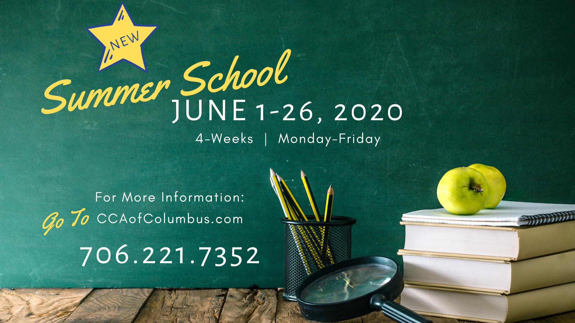CCA Summer School Graphic