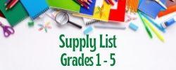 Supply List (Grades 1-5) image